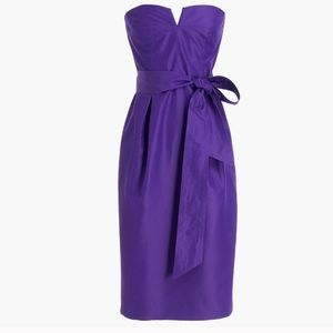 J. Crew Tie-waist Strapless Cocktail Dress